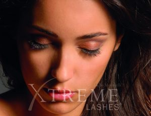 Woman with closed eyes and Xtremem Lashes Watermark